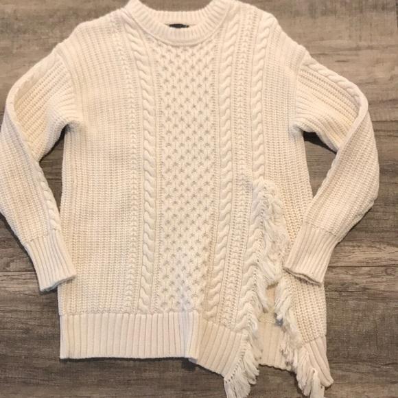 fafc60b2749dbb J. Crew Sweaters | Nwt J Crew Cable Knit Cream Side Slit Sweater ...